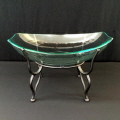 Rental store for GLASS BOWL  OBLONG  W STAND in Gulfport MS