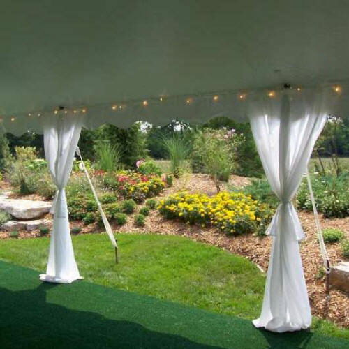 Where to find TENT CURTAINS - 9  WHITE PACKAGE  24 in Gulfport