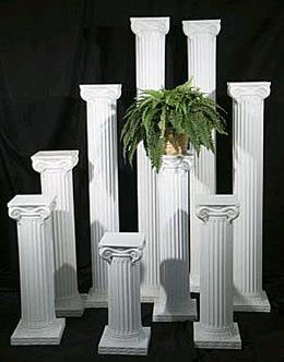 Columns 70 Inch White Each Rentals Gulfport Ms Where To
