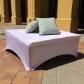 Rental store for LOUNGE, OTTOMAN 4  X 4  WHITE SPANDEX in Gulfport MS