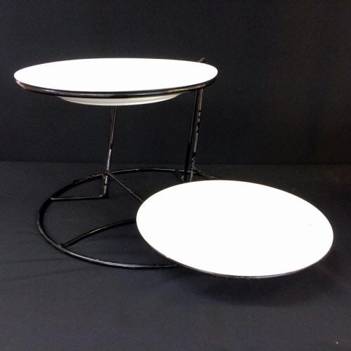 Where to find STAND, 2 TIER with WHITE PLATES in Gulfport