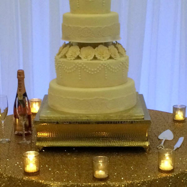 CAKE STAND GOLD/SQU 20 INCH Rentals Gulfport MS, Where to Rent CAKE ...