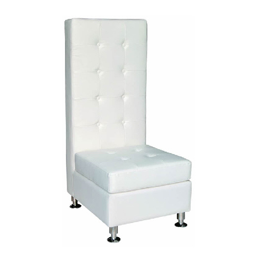Where To Find FURNITURE, WHITE CHAIR HIGH BACK In Gulfport