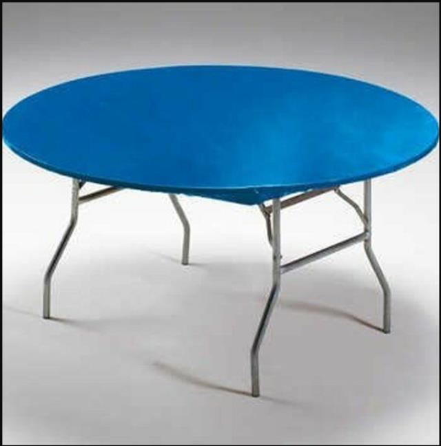 Where to find PLASTIC TABLECLOTH BLUE  60  FITTED in Gulfport