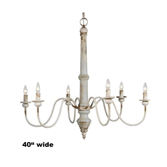 Where to find CHANDELIER, RUSTIC WHITE WASHED 40    3 in Gulfport