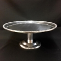 Rental store for CAKE STAND SILVER PEDESTAL in Gulfport MS