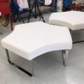 Rental store for FURNITURE, WHITE OTTOMAN  EA in Gulfport MS