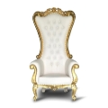 Rental store for THRONE CHAIR WHITE w gold trim in Gulfport MS