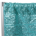 Rental store for DRAPES ONLY SEQUIN 12  TURQUOISE  P D in Gulfport MS