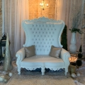 Rental store for THRONE LOVESEAT WHITE WHITE  1 in Gulfport MS