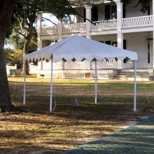 tent frame 15 foot x15 foot white rentals gulfport ms where to rent