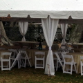 Rental store for TENT CURTAINS - 7  WHITE - SIMPLE in Gulfport MS